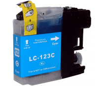 Compatible Brother LC123 Cyan ink cartridges | Print Head