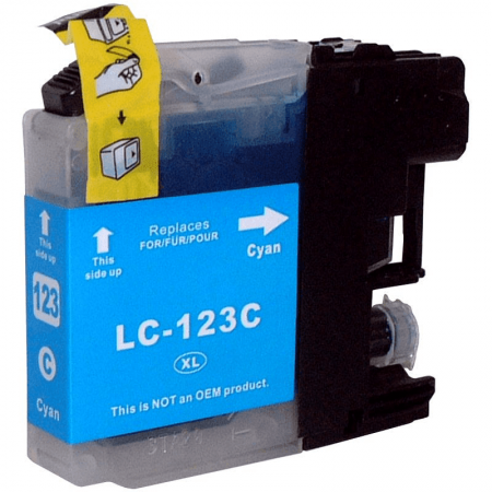 Compatible Brother LC123 Cyan ink cartridges