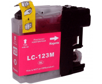 Compatible Brother LC123 Magenta ink cartridges | Print Head