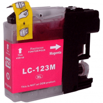 Compatible Brother LC123 Magenta ink cartridges