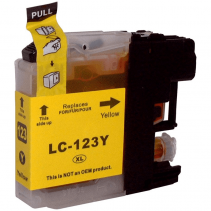 Compatible Brother LC123 Yellow ink cartridges