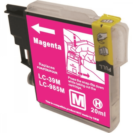 Compatible Brother LC985 Magenta ink cartridges   Print Head